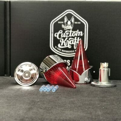Red Afterburner Indian Lens Kit Chrome Bezel